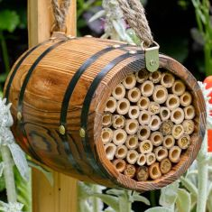 Vintage Barrel Solitary Bee Shelter