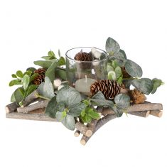 Nature Trail Star Christmas Candle Holder