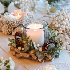 Nature Trail Christmas Pillar Candle Holder