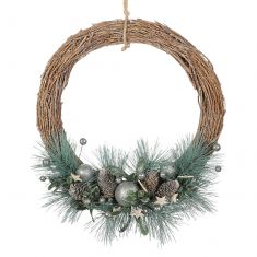 Frosted Forest Half Moon Wreath 13