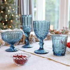 Aurielle Sapphire Blue Glassware Collection