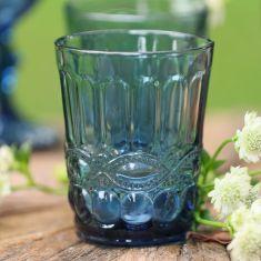 Set of 4 Aurielle Sapphire Blue Glass Tumblers