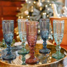 Let's Celebrate Coloured Champagne Flutes