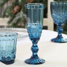 Aurielle Sapphire Blue Champagne Flute