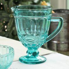Aurielle Turquoise Blue Glass Serving Jug