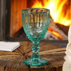 Aurielle Turquoise Blue Wine Goblet