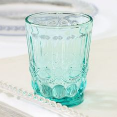 Aurielle Turquoise Blue Glass Tumbler