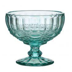 Aurielle Turquoise Blue Glass Dessert Bowl