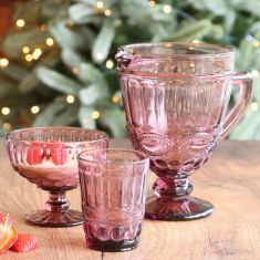 Aurielle Amethyst Pink Entertaining Collection