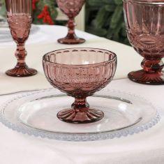 Aurielle Amethyst Glass Dessert Bowl
