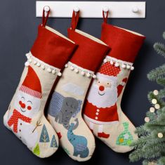 Festive Friends Pom Pom Christmas Stockings