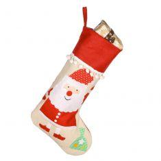 Father Christmas Pom Pom Stocking