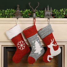 Country Knit Christmas Stocking Collection