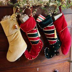 Luxury Velvet Jingle Bell Christmas Stockings