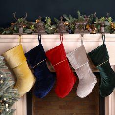 Opulent Velvet Christmas Stocking Collection