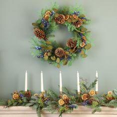 Seville Blueberry Mantel Collection