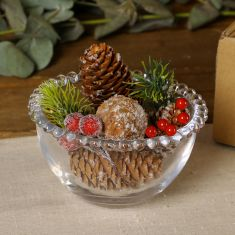 Frosted Berries Pinecone Pot Pourri