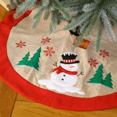Traditional Red Festive Friends Christmas Tree Skirt