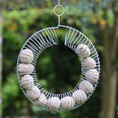 Sage Green Round Wire Bird Feeder