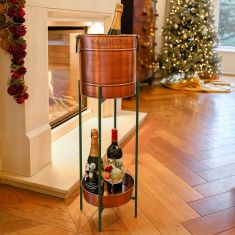 Copper and Emerald Green Standing Champagne and Ice Bucket