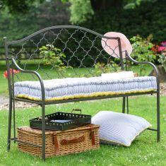 Grey Marrakech Trellis Garden Bench
