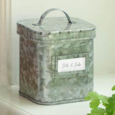 Vintage Zinc Kitchen Storage Caddy