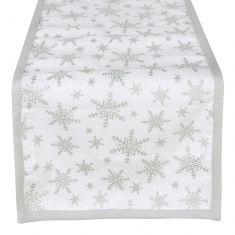 White Christmas Shooting Star Table Runner