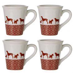 Set of 4 Furry Companion Mugs
