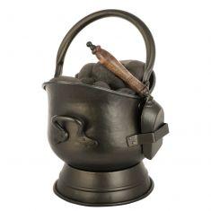 Antique Style Bronze Coal Bucket and Shovel