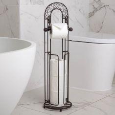 Ornate Archway Freestanding Toilet Roll Holder