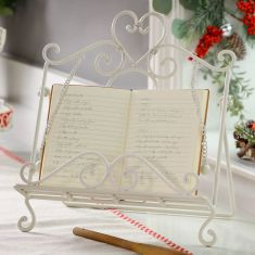 Amelie Country Cream Cookbook Stand
