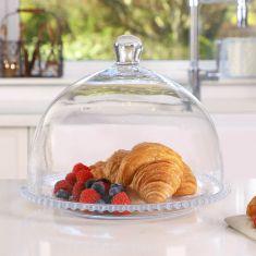 Bella Perle Sandwich Platter & Cloche