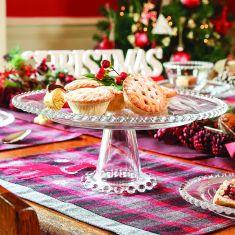 Bella Perle Glass Beaded Cake Stand