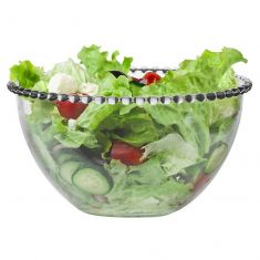 Bella Perle Beaded Glass Salad Bowl