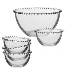 Bella Perle Large Trifle Bowl and Dessert Bowls Set