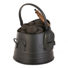 Black Coal Bucket and Shovel