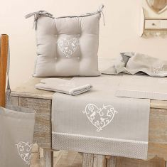 Love Birds Grey Linen