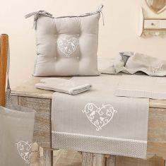 Love Birds Grey Linen