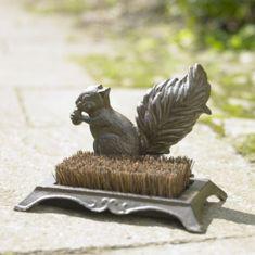 Cast Iron Squirrel Boot Brush