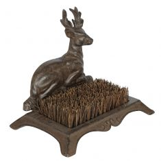 Cast Iron Outdoor Stag Boot Brush