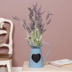 Blue Heart Pitcher Jug Vase