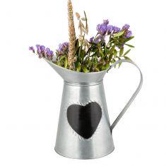 Silver Jug Vase with Chalkboard Heart