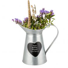 Personalised Tin Heart Pitcher Jug