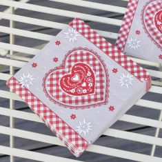 Pack of 20 Country Heart Napkins