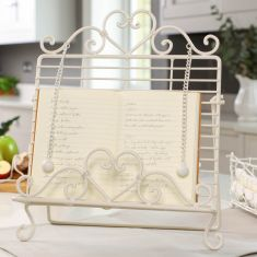 Country Cream Vintage Recipe Book Stand