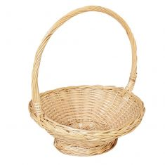 Vintage Large Handle Wicker Basket