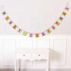 Merry Christmas Fabric Bunting