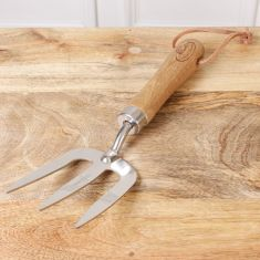 Wood Handle Garden Fork