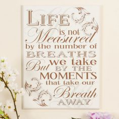 'Life Moments' Large Vintage Wall Sign