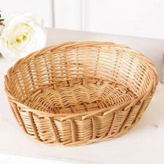 Wicker Oval Storage Basket